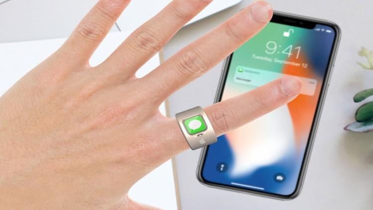 Anel inteligente da Apple permitirá controle de outros dispositivos por gestos