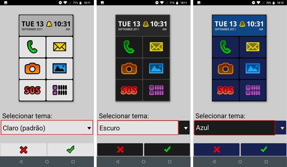 Aplicativo para deixa celular com ícones grandes