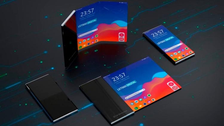 Smartphone LG com tela que se desenrola