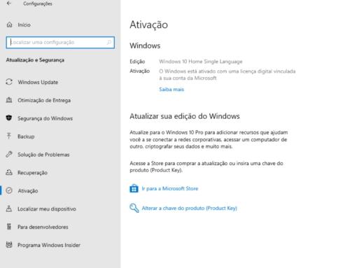 Como recuperar a chave de ativação do Windows 10